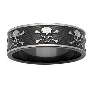 Skull & Crossbones Zirconium ring
