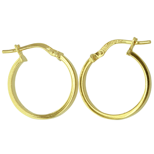 <p>9ct yellow gold Silver Filled Hoop Earrings</p>