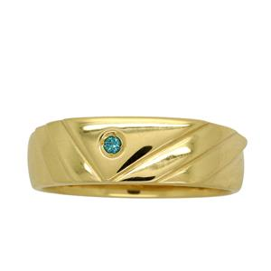 <p>Yellow Gold Blue Diamond Ring</p>