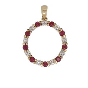 Ruby and Diamond Pendant, Total Diamond Weight 0.04ct