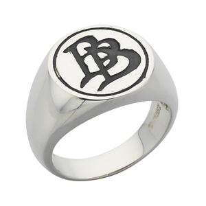 "<p>Oxidised Bilbo Baggins ""BB"" Initial Signet Ring.</p>