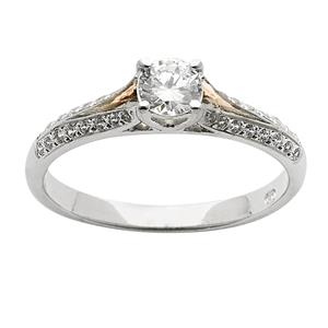 <p>Split shank diamond ring</p>