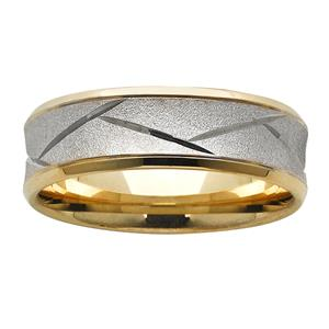 <p>7mm concaved and patterned ring</p>
