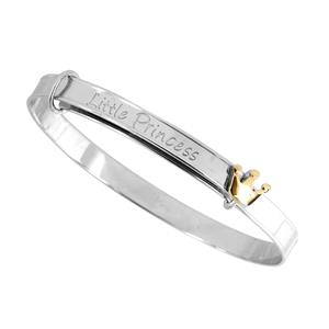 <p> Silver and 9 Carat Yellow Gold Bangle</p>