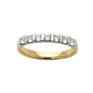 <p>Two-Tone Diamond Ring. Available in all colours. Set with 7 x .05ct Round Brilliant Cut Diamonds. Total Diamond Weight 0.35ct</p>