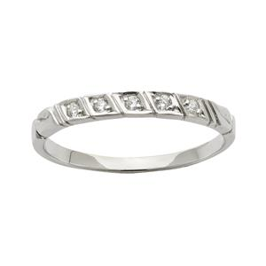 <p>Diamond ring in White gold set with 5 x 70pc Round Brilliant Cut Diamonds. Total Diamond Weight 0.07ct</p>
