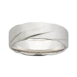 <p>9ct White Gold Patterned Ring</p>